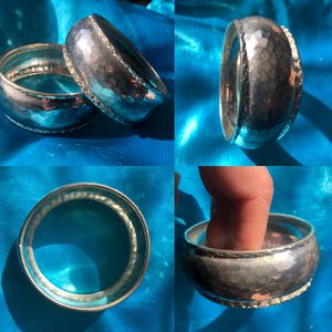 "Antique Style 1"" Silver Cuff Bracelets 2-For-1 /2.5"" across for Sale in Glen Ellyn, IL"