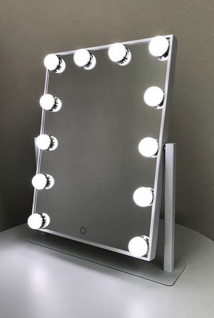 "New $70 each Vanity Mirror 12 Dimmable Light Bulbs Hollywood Beauty Makeup, 16""x12"" for Sale in Whittier, CA"