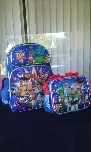 New Toy Story #4 Backpack $21 Lunch Pail $11 for Sale in Stockton, CA