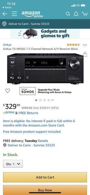 Onkyo 7.1 4K speakers and receiver for Sale in Sunrise, FL