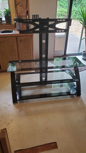 Glass tv stand for Sale in Bonney Lake, WA
