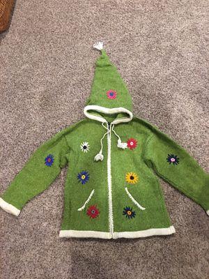 Whimsical kids 100% wool cardigan made in Ecuador for Sale in Fife, WA