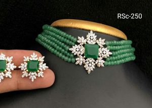 Green beads choker necklace set for Sale in Dublin, CA