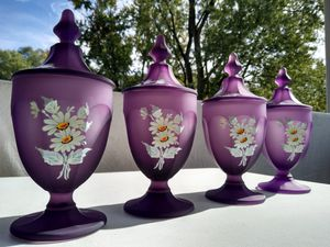 Westmoreland Glass Lilac Satin Mist Candy Dishes for Sale in Monroeville, PA