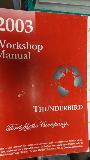 2003 ford thunderbird workshop manual for Sale in Montclair, CA