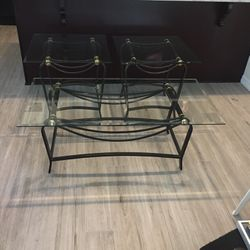 Coffee Table and Side Tables- Beveled Glass for Sale in Clearwater,  FL