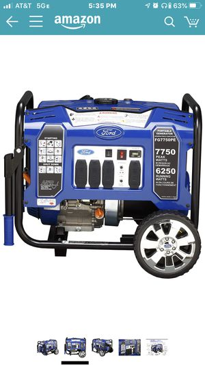 Ford generator 7750-6250 watts electric starter for Sale in Lynwood, CA