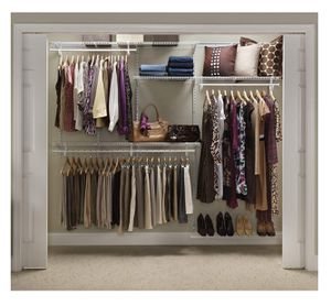 Closetmaid Adjustable Closet Organizer Kit, White for Sale in Tracy, CA