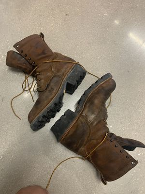 Red wings boots for construction for Sale in Fort Myers, FL