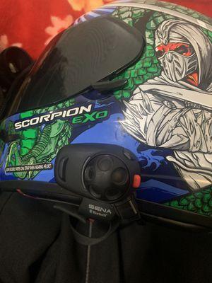 Scorpion helmet with SENA Bluetooth for Sale in Detroit, MI