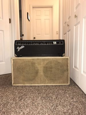 Fender 100w Amp Head and Marshall Cab for Sale in Morro Bay, CA