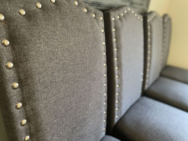 PENDING: Gray Studded Dining room Chairs (set Of 4)