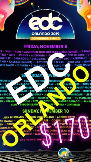 EDC ORLANDO • $170 EACH • 3-DAY WRISTBAND for Sale in Los Angeles, CA
