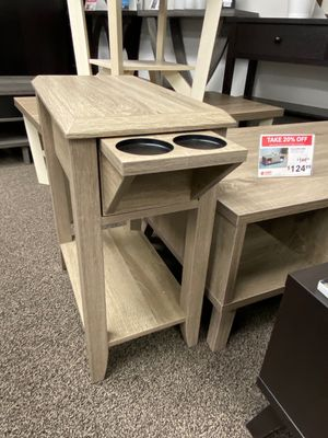 End Table with 2 Cupholder Space , Dark Taupe for Sale in Downey, CA