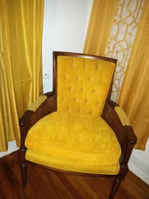 2 antique mustand yellow chairs for Sale in St. Louis, MO