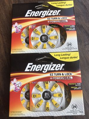Energizer Az10dp-24 EZ Turn & Lock Hearing Aid Size 10 Lot of 2. Brand New. Never Used. for Sale in Bethesda, MD