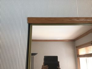 Mirror wardrobes 80 in by 30 inch doors with all tracks and mounting equipment for Sale in Dublin, CA