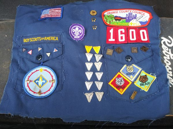 Boy scout pins and patches