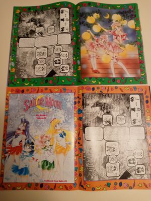 Two 1990s Vintage Smile Magazines with Sailor Moon Comics and Artwork Inside for Sale in Coram, NY