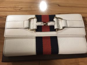 Gucci white leather wallet - new in box for Sale in San Jose, CA