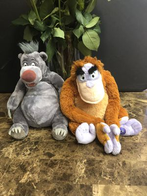 Jungle book baloo and king Louie Disney plushies for Sale in Goodyear, AZ