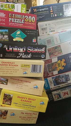 2 for $20 Family Jigsaw Puzzles from 300 PC to 1000 homeschool homeschooling for Sale in Newport Beach, CA
