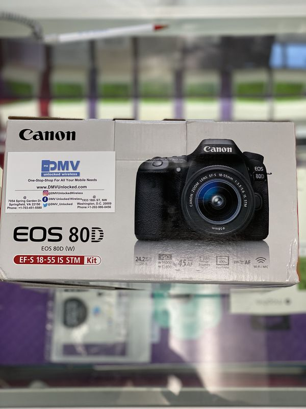 BRAND NEW Canon EOS 80D W/EF-S 18-55 IS STM Kit!