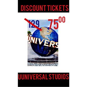 2 Tickets.u universal studio park. Tuesday. Pay after enter. for Sale in Los Angeles, CA