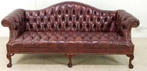 Chesterfield tufted English leather sofa for Sale in Los Angeles, CA