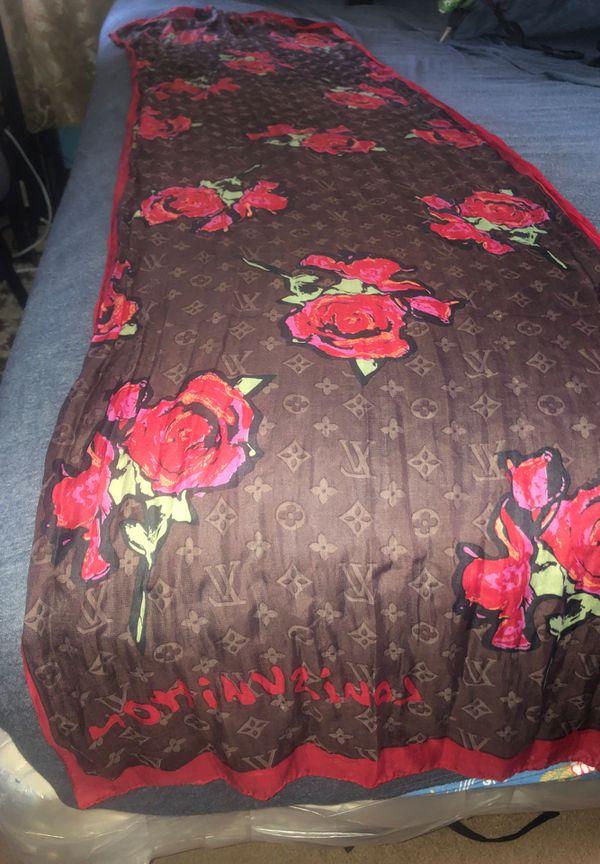 Louis Vuitton rose scarf