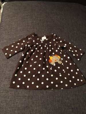 Carter's Thanksgiving Dress- Brown and White Polka Dot - Newborn for Sale in Autaugaville, AL