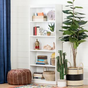 "South Shore Smart Basics 5-Shelf 68 3/4"" Bookcase, WHITE DESCRIPTION: The South Shore Smart Basics Collection Bookcases are ideal for your plants, sm for Sale in Houston, TX"