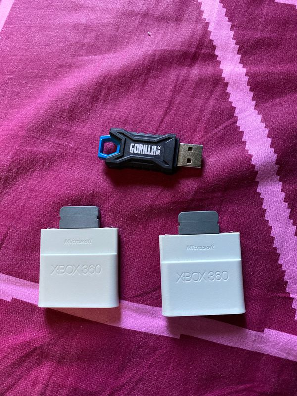 Two, 256MB for Xbox 360 and one USB with some games downloaded
