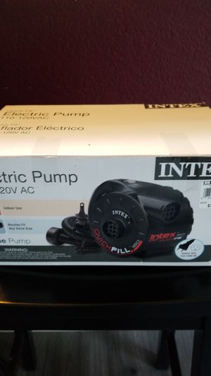 INTEX Quick-Fill Electric Pump 110-120V AC for Sale in Pittsburg, CA