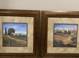 Framed pictures - 4 Piece set $80 for Sale in Santee,  CA