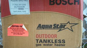 NEW BOSCH OUTDOOR VENTING TANKLESS GAS WATER HEATER for Sale in Austin, TX
