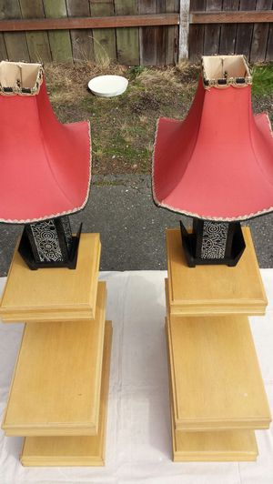 1950's custom made lamps and match end tables. for Sale in Bothell, WA