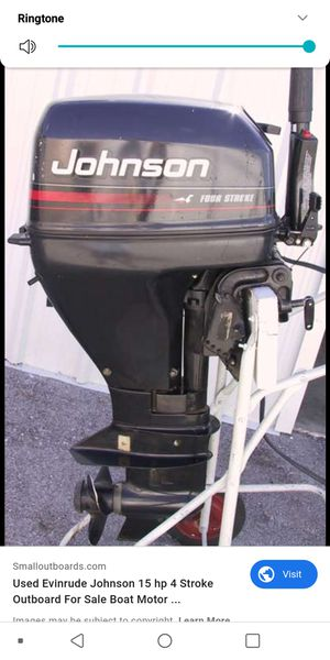 Johnson outboard boat motor 15hp for Sale in Seattle, WA