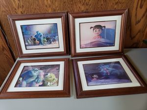 Monsters Inc. Framed Lithographs - Disney Limited Edition for Sale in Tracy, CA