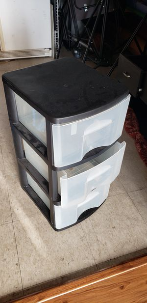 Plastic Drawer Storage Black for Sale in Los Angeles, CA