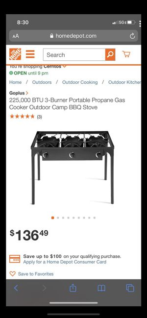 3-burner portable propane gas for Sale in Commerce, CA