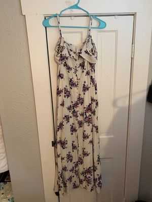 Floral White Long Dress for Sale in Saint Petersburg, FL
