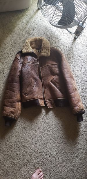 Vintage Schott sheepskin flight jacket for Sale in West Covina, CA
