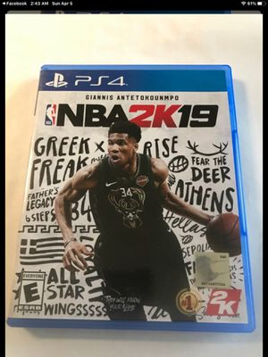 NBA 2k19 PS4 Game for Sale in Gardena, CA
