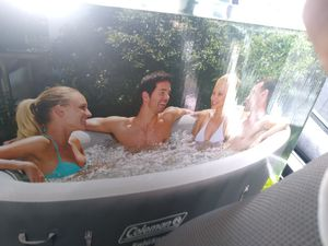Above ground heated pool hot tub for Sale in Fort Myers Beach, FL