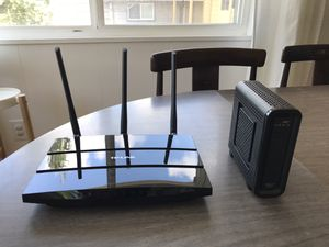 TP-link WiFi router and ARRIS cable modems for Sale in Seattle, WA