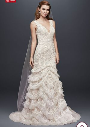 Lace and beaded wedding dress, tailored with French bustle etc for Sale in Jacksonville, FL
