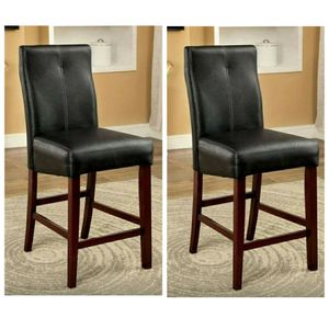 Brown Cherry and Black Contemporary Style Counter Height Chair (2-Pack) for Sale in Ontario, CA