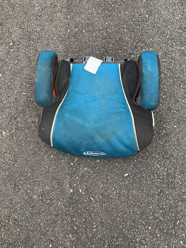 Teal Graco car booster seat