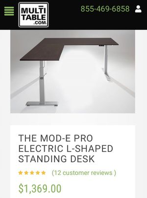 Electric L-Shaped Standing Desk for Sale in Escondido, CA